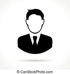 człowiek, handlowy, ikona
