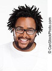 człowiek, headshot, afrykańska amerikanka