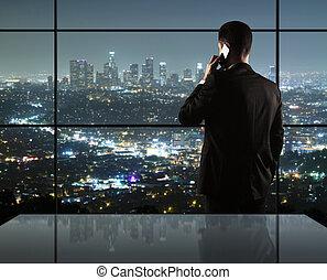 człowiek, i, miasto, życie nocne
