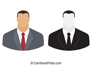 człowiek, ikona, użytkownik, handlowy dostosowują