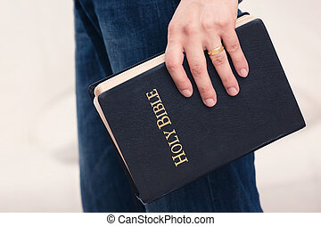 człowiek, jego, bok, dzierżawa, biblia