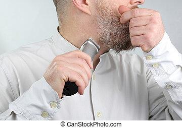 człowiek, jego, corrects, lawirant, broda