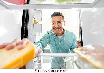 człowiek, kuchnia, jadło, lodówka, wpływy