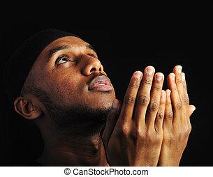 człowiek, młody, muslim