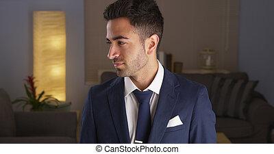 człowiek, meksykanin, garnitur