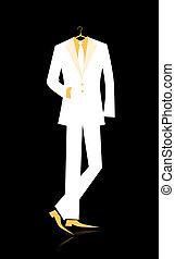 człowiek, projektować, twój, garnitur
