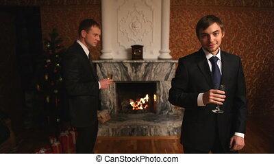 człowiek, szampan