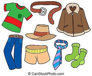 człowiek, zbiór, odzież