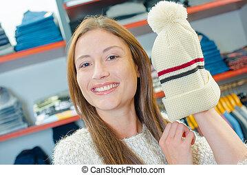 czapeczka, kobieta dzierżawa