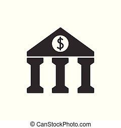 czarnoskóry, bank, ikona