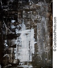 czarnoskóry, biały, sztuka, abstrakcyjny