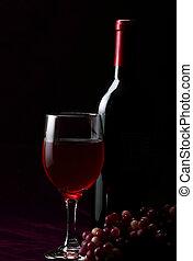czarnoskóry, butelka, wino
