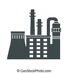 czarnoskóry, fabryka, ikona