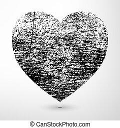 czarnoskóry, grunge, serce