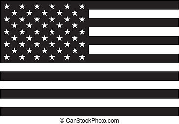 czarnoskóry i biały, amerykańska bandera