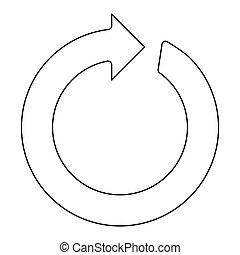 czarnoskóry, ikona, kolor, koło, strzała