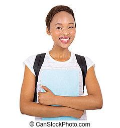 czarnoskóry, kolegium, młody, student