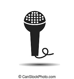 czarnoskóry, mikrofon, teatr