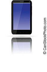 czarnoskóry, smartphone