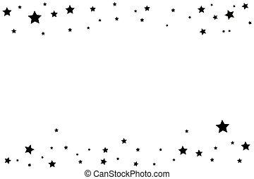 czarnoskóry, spadająca gwiazda, z, elegancki, ślad gwiazdy,...