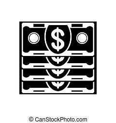 czarnoskóry, stóg, banknot, ikona