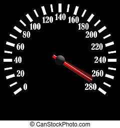 czarnoskóry, szybkościomierz
