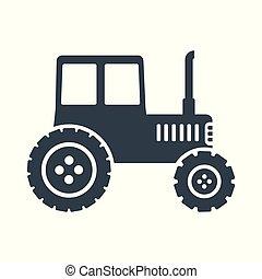 czarnoskóry, traktor, ikona