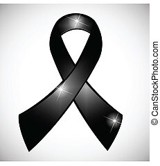 czarnoskóry, wstążka, świadomość, symbol