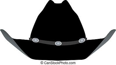 czarny kapelusz, kowboj