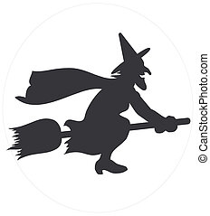 czarownica, przelotny, sylwetka
