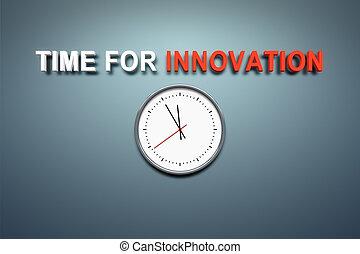 czas, dla, innowacja, na, ściana