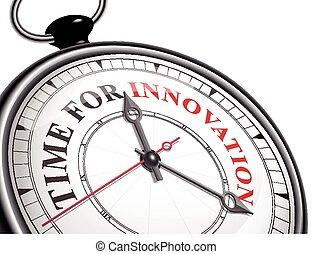 czas, dla, innowacja, pojęcie, zegar