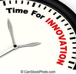 czas, dla, innowacja, pokaz, twórczy, rozwój, i, dzielność