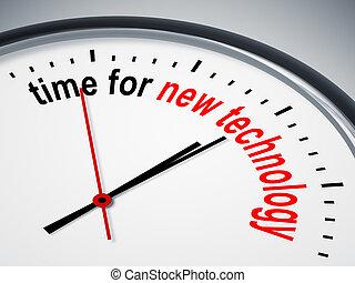 czas, dla, nowa technologia