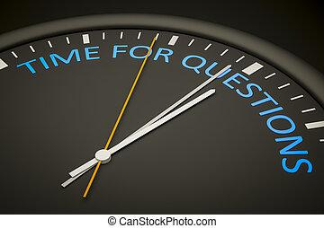 czas, dla, pytania