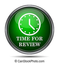 czas, dla, rewizja, ikona