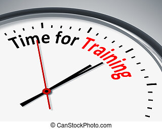 czas, dla, trening