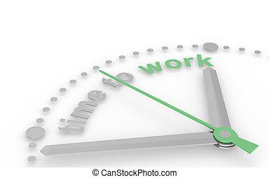czas, do, work.