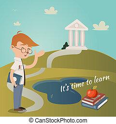 czas, jego, uczyć się