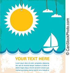 czas, lato, jacht, morze