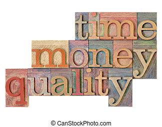 czas, pieniądze, jakość, -, kierownictwo, strategia