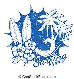 czas, surfing, scena