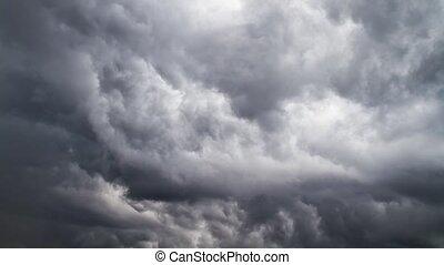 czas-upływ, chmury, burza