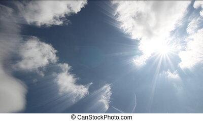 czas-upływ, chmury