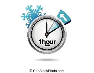 czas, witka, zima, zegar