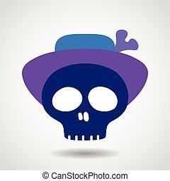 czaszka, hat.
