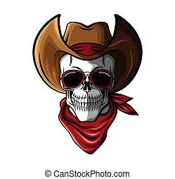 czaszka, kowboj