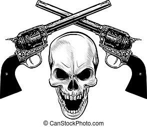 czaszka, marynarka, herb, grunge., projektować, wojskowy, t-koszule