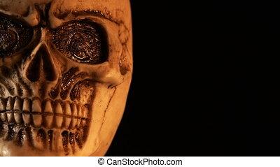 czaszka, szczegół, straszliwy