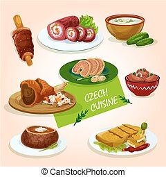Czech cuisine comfort dishes for dinner design